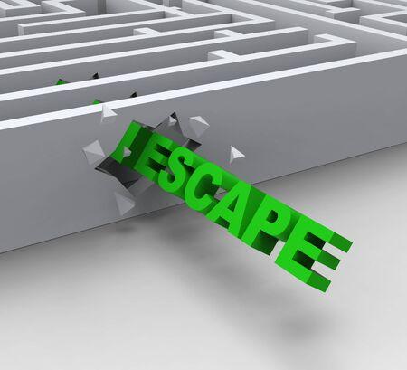 Escape From Maze Shows Liberated Or Escape