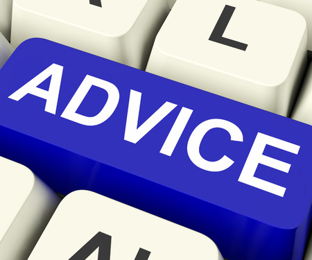 Advice Key On Keyboard Meaning Recommend Suggest Or Counsel