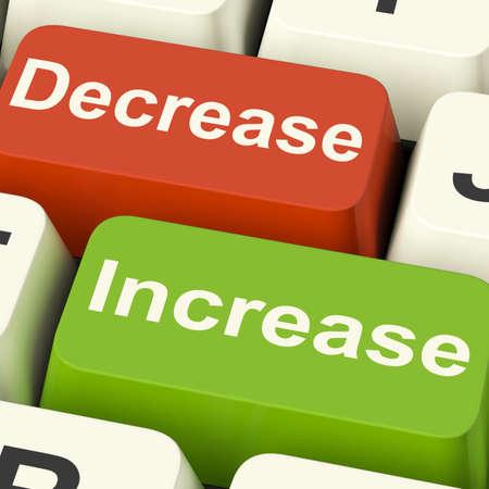 Decrease Increase Keys Showing Decreasing Or Increasing