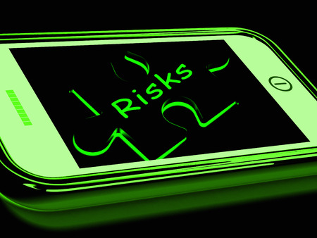 Risks Smartphone Showing Unpredictable And Risky Investment