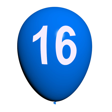 16 Balloon Showing Sweet Sixteen Birthday Party