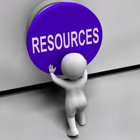 Resources Button Meaning Funds Capital Or Staff