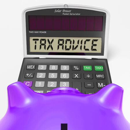 Tax Advice Calculator Showing Assistance With Taxes