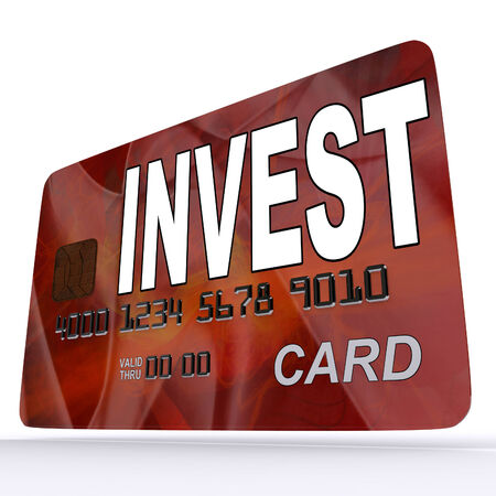 Invest on Credit Debit Card Showing Investing Money