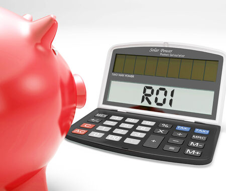 ROI Calculator Showing Investment Return And Profitability