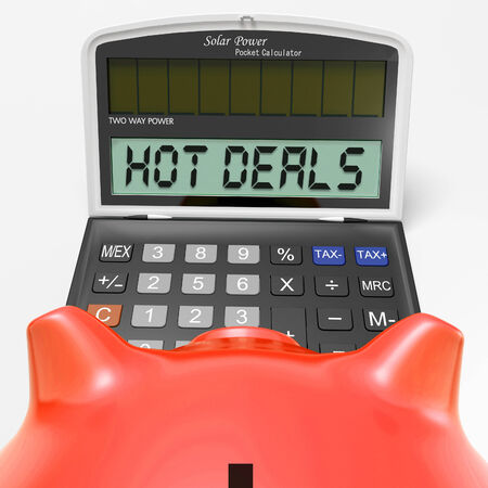 Hot Deals Calculator Showing Promotional Offer And Savings