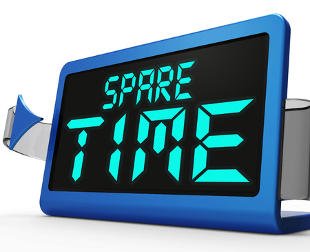 Spare Time Clock Meaning Leisure Or Relaxation