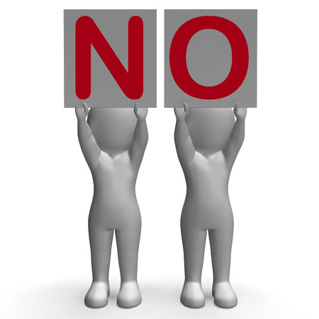 NO Banners Showing Complete Denial Refusal And Rejection