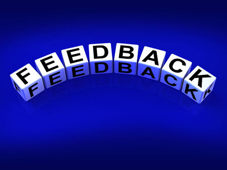 Feedback Blocks Meaning Comment Evaluate and Review