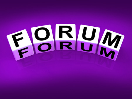 Forum Blocks Showing Advice or Social Media or Conference