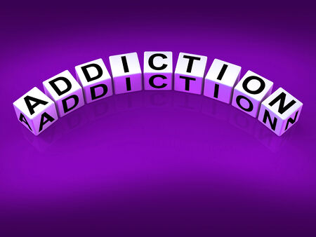 Addiction Blocks Representing Obsession Dependence and Cravings