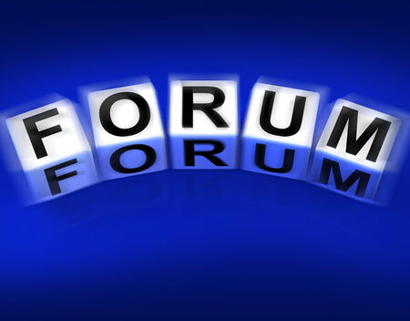 Forum Blocks Displaying Advice or Social Media or Conference