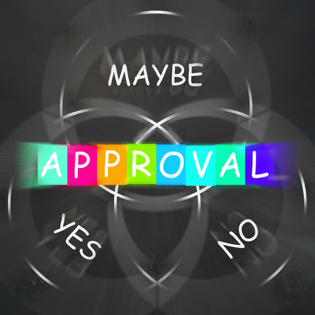 Approval Displaying Endorsed Yes Not No or Maybe
