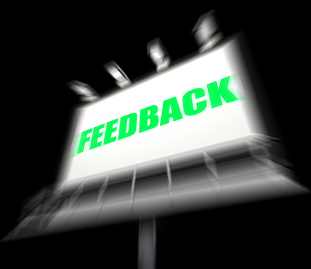 Feedback Sign Displaying Opinion Evaluation and Comment