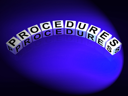 Procedures Dice Representing Strategic Process and Steps