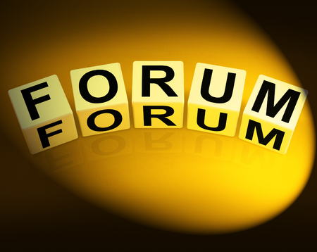 Forum Dice Showing Advice or Social Media or Conference