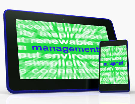 Management Tablet Showing Authority Administration And Governing