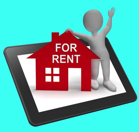 For Rent House Tablet Showing Rental Or Lease Property