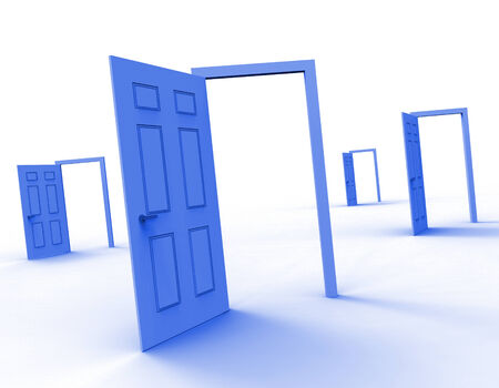 Doors Choice Representing Doorframe Doorway And Direction