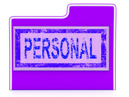 File Personal Indicating Confidentially Individually And Organized