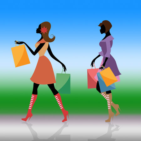 Shopper Shopping Representing Retail Sales And Person