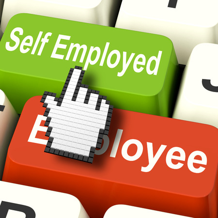 Self Employed Computer Meaning Choose Career Job Choice