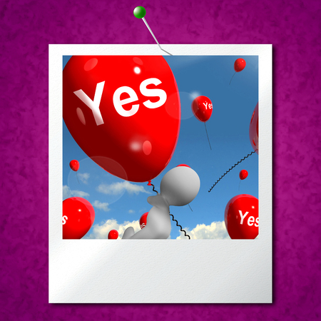 Yes Balloons Photo Meaning Certainty and Affirmative Approval