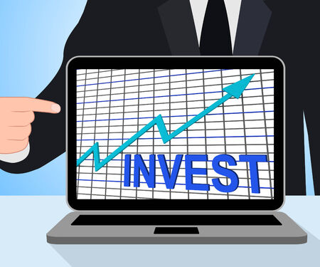 Invest Chart Graph Displaying Increase Investment