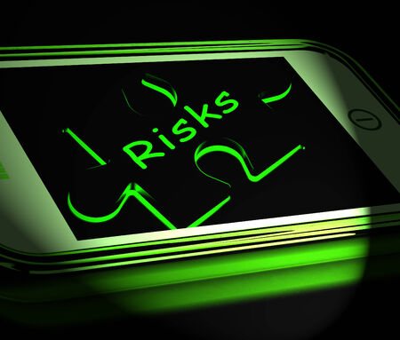 Risks Smartphone Displaying Unpredictable And Risky Investment
