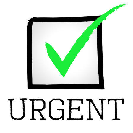 Urgent Tick Indicating Compelling Passed And Confirm