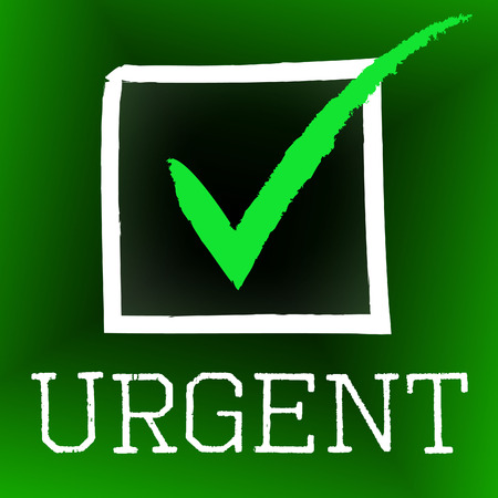 Tick Urgent Meaning Instant Ok And Approved