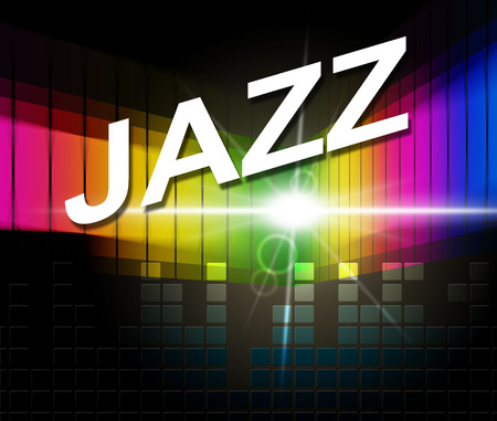 Jazz Music Showing Sound Track And Orchestra