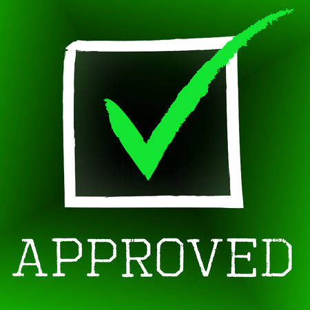 Approved Tick Showing Checkmark Check And Yes