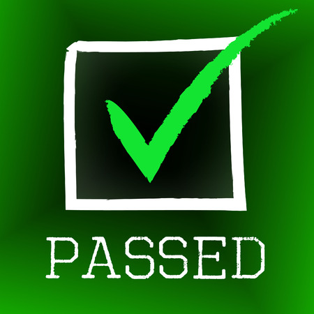 Tick Passed Representing Verified Approved And Assurance