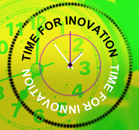 Time For Innovation Indicating Idea Inventions And Create