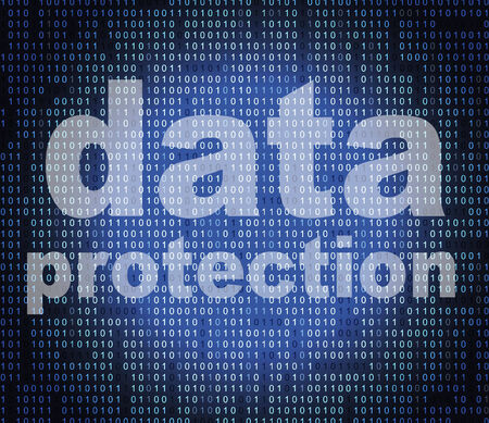 Photo pour Data Protection Representing Security Restricted And Encryption - image libre de droit
