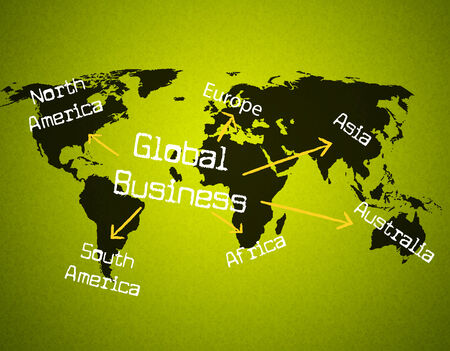 Global Business Showing Globalization Globally And Company