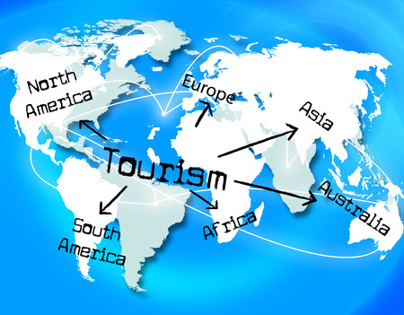 Worldwide Tourism Indicating Vacation Globalisation And Globalization