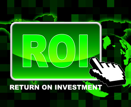 Investment Roi Indicating World Wide Web And Website