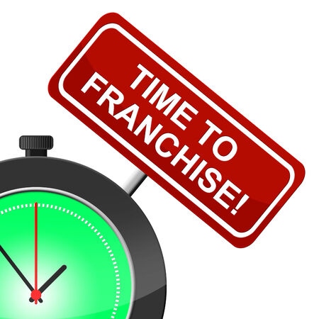 Time To Franchise Indicating Right Now And Franchised