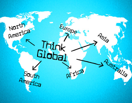 Think Global Representing World Thinking And Worldly