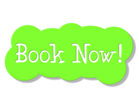 Book Now Indicating At The Moment And Present