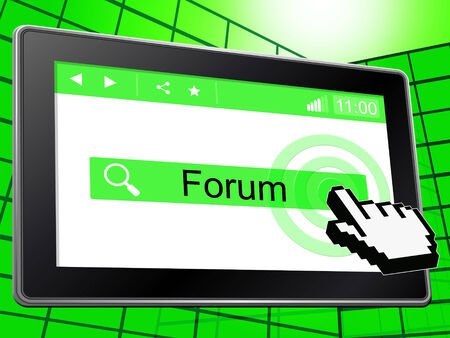 Forum Online Representing World Wide Web And Social Media