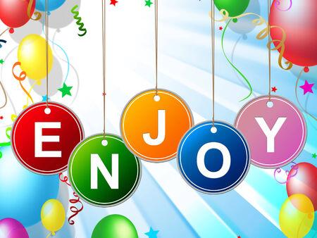 Party Enjoy Meaning Celebration Celebrate And Happy