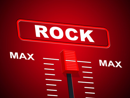 Rock And Roll Indicating Sound Track And Musical