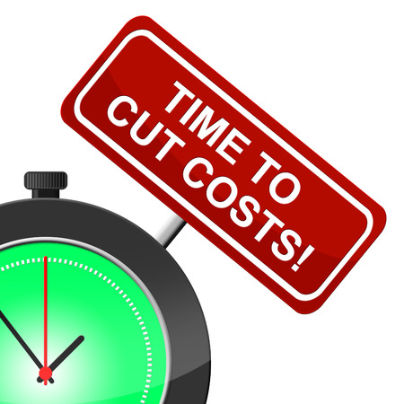 Cut Costs Indicating Finances Price And Wealth