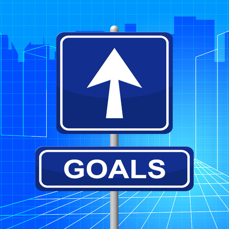 Goals Sign Indicating Pointing Targeting And Aspire