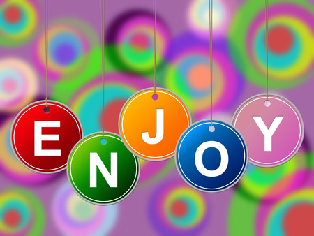 Enjoy Party Showing Happiness Cheerful And Celebrate