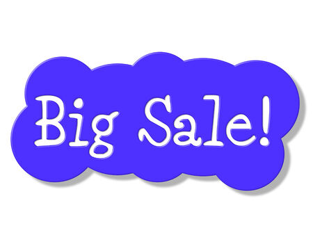 Big Sale Indicating Promotion Savings And Offer