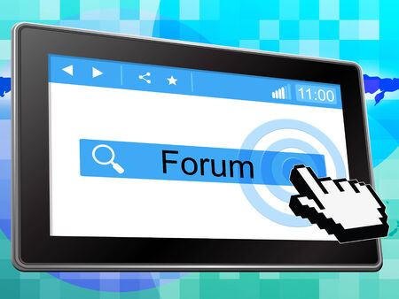 Forum Online Representing World Wide Web And Website